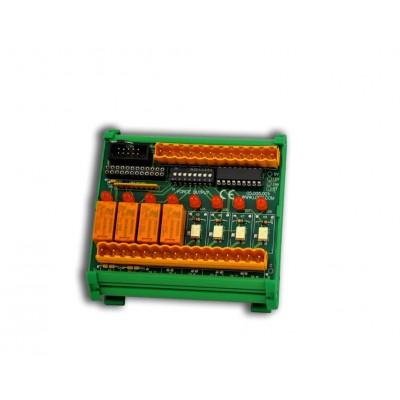 Scheda 8 relè comandati TTL-CMOS
